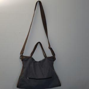 💥3/$30 Grey & Brown Denim Light Messenger bag